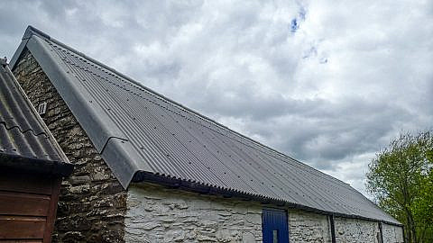 Image showing the new roof on The Swallow Theatre